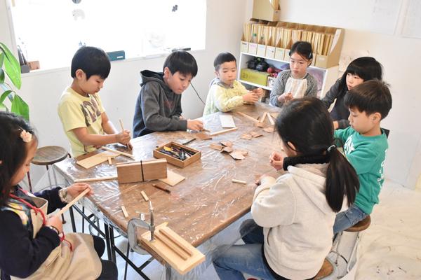 木製ペンケース作り